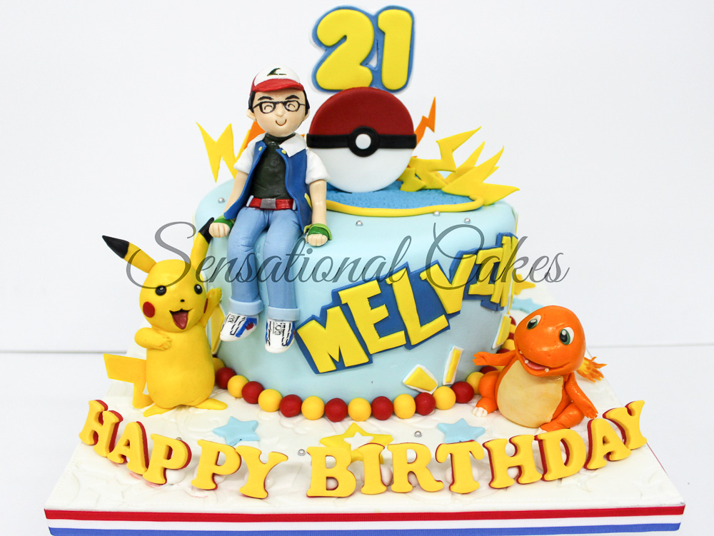 Custom made Pokemon theme birthday cake by Sensational Cake | Singapore children birthday party photography by Truphotos | シンガポール誕生日パーティー・子供フォトグラファー | www.truphotos.com