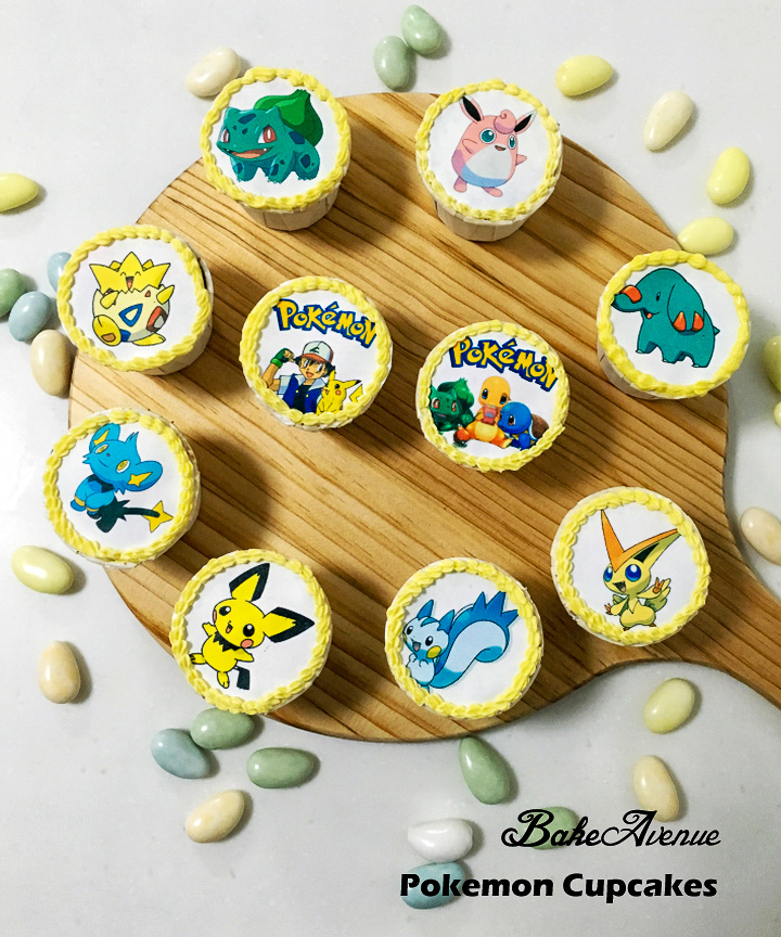 Custom made Pokemon theme cupcakes by Bake Avenue | Singapore children birthday party photography by Truphotos | シンガポール誕生日パーティー・子供フォトグラファー | www.truphotos.com