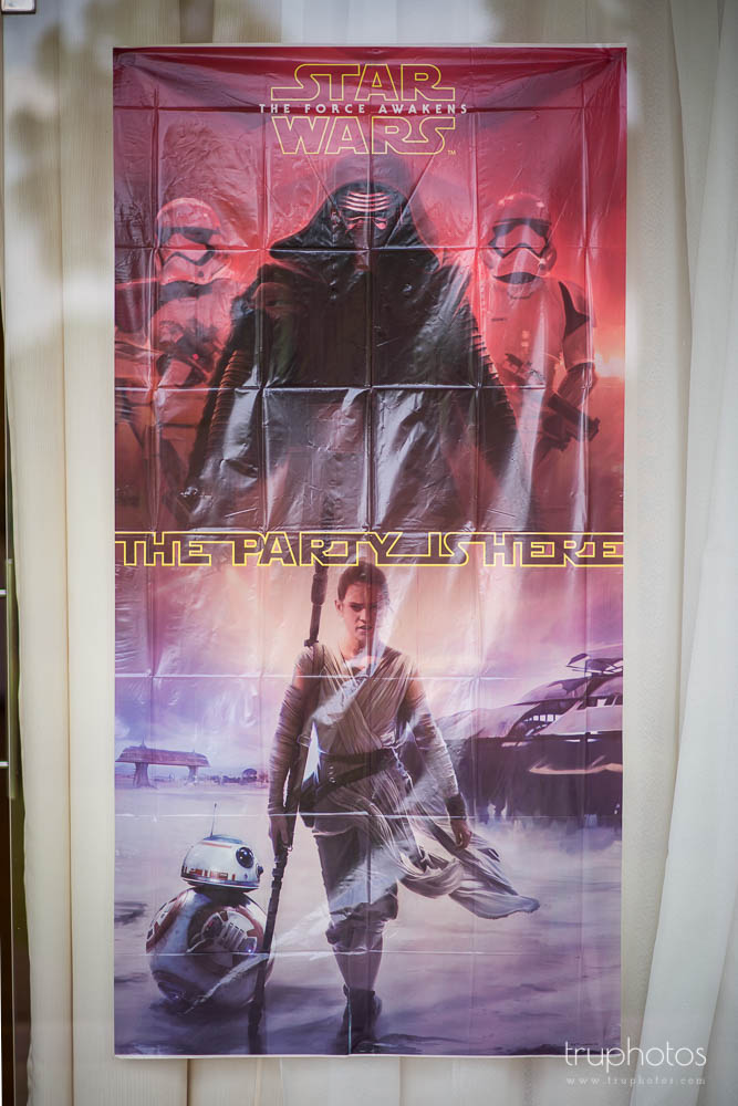 Star Wars poster at birthday party of Aaron & Isaac at Tanah Merah Country Club