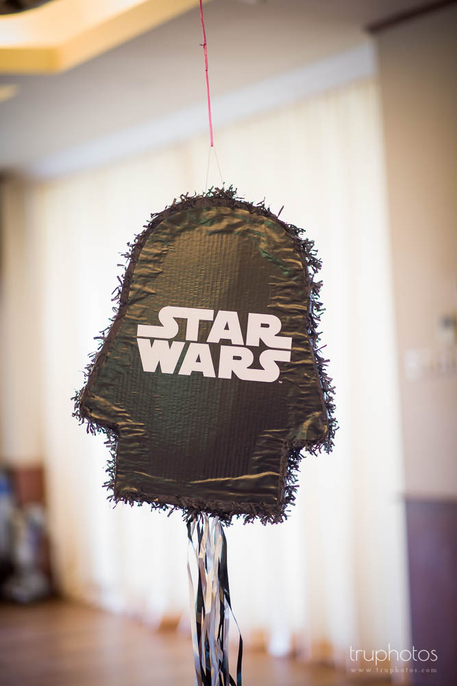 Black Star Wars theme pinata kit at birthday party of Aaron & Isaac at Tanah Merah Country Club