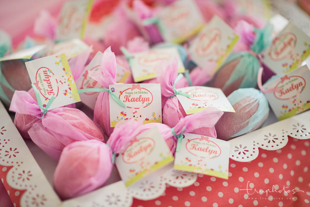 Candies wrapped delicately with custom labels