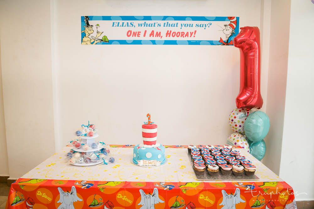 Dr Seuss theme birthday party