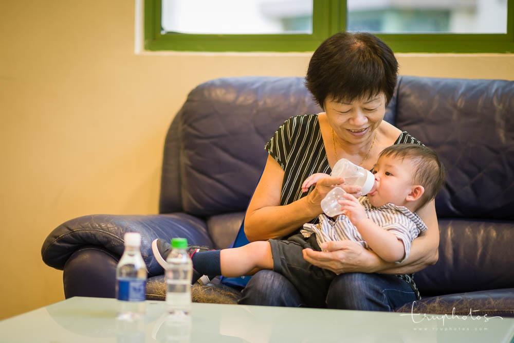 Grandma feeding Elias