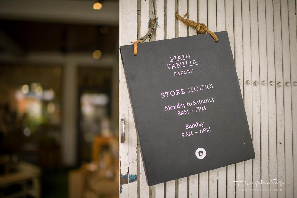 Plain Vanilla Bakery opening hours