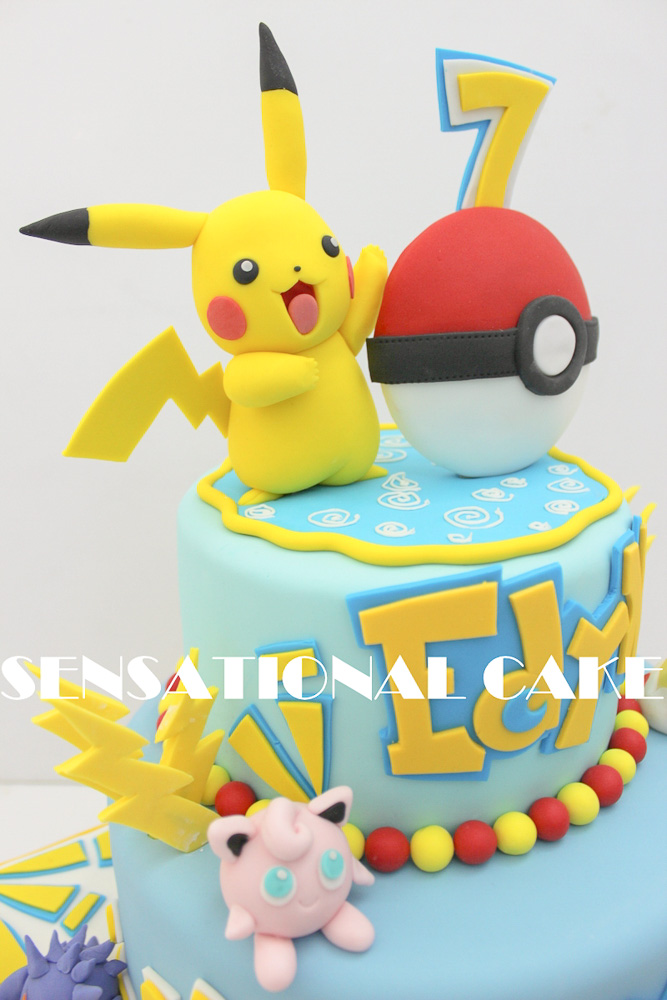pokemon theme party supplies custom made birthday cake sensational cake singapore children birthday party photographer 003 1 Pokemon Birthday Cake Designs
