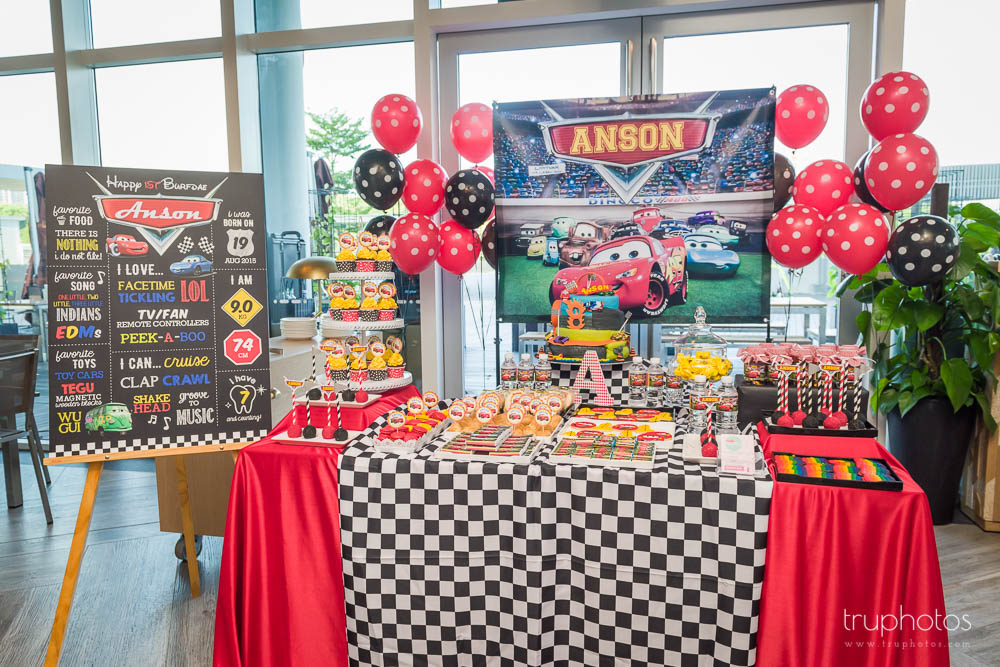 Stunning Cars Theme Birthday Party Dessert Table By One