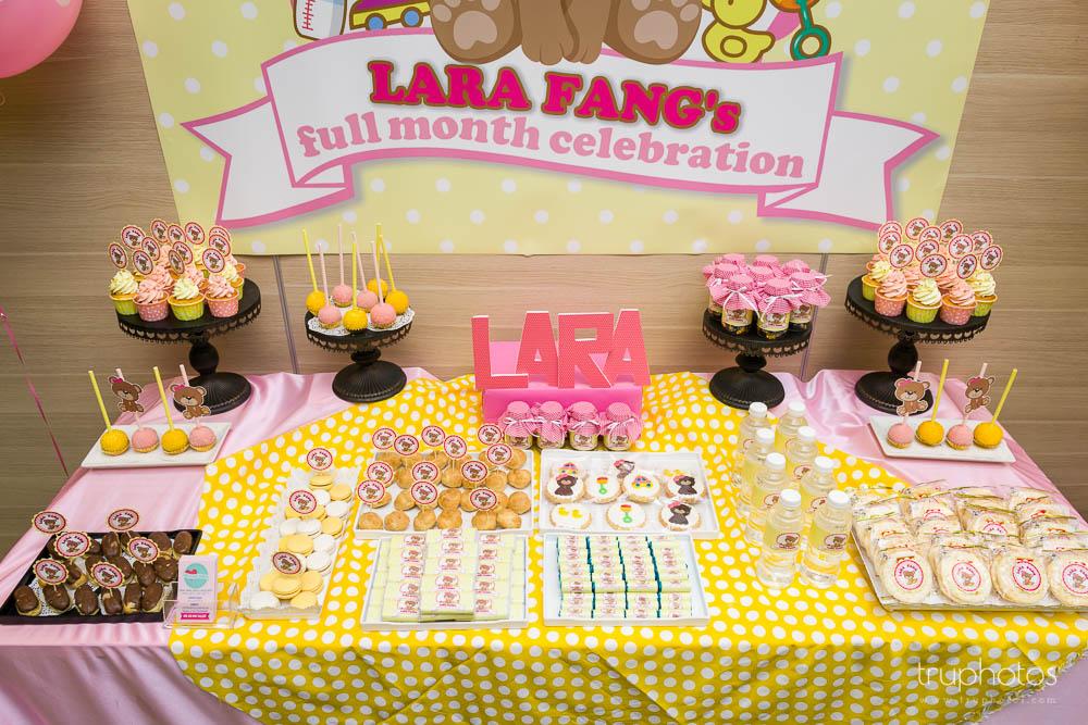 Cute Teddy Bear Theme Birthday Party Dessert Table